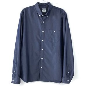 Men's Express Blue Long Sleeve Button Down Shirt